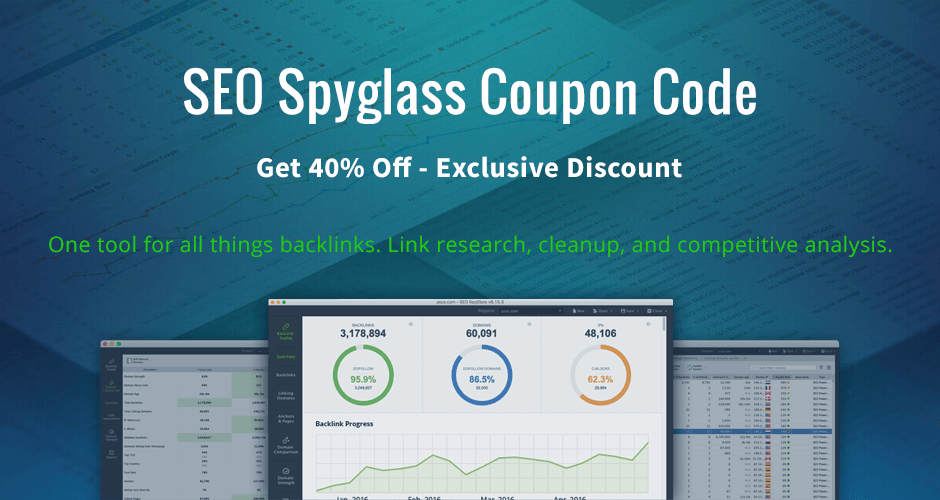 SEO Spyglass Coupon Code - Get 40% Off - Exclusive Discount